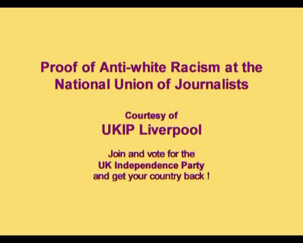 Proof Anti White Racism at NUJ